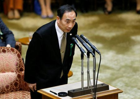 Yasunori Kagoike, head of Moritomo Gakuen school, attends a parliamentary session in Tokyo, Japan March 23, 2017. REUTERS/Issei Kato
