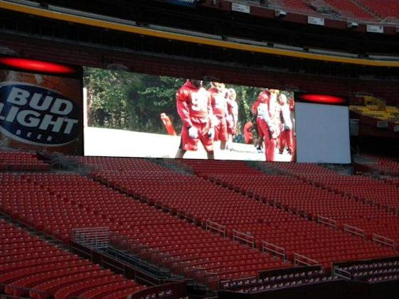 Dan Snyder shows off Washington's new HD screens, says they're clearer than Jerry's & punter-proof