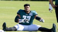Reports: Eagles LT, former 1st-round pick Andre Dillard out for season with biceps injury