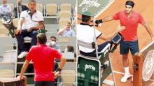 """""""Conozco las normas"""": Roger Federer pierde la compostura en Roland Garros"""