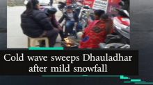 Cold wave sweeps Dhauladhar after mild snowfall