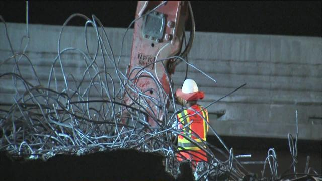Bridge construction keeps neighbors awake all night