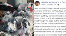 'This is unacceptable': Viral Facebook post calls out children's clothing brand for 'destroying' bags of unsold product