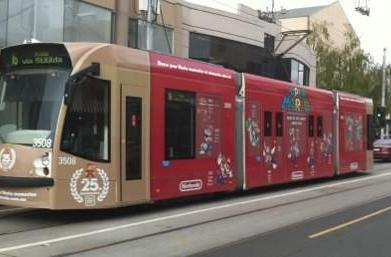 Melbourne residents ride 25th Anniversary Mario trains
