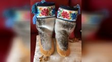 Elder teams up with niece-in-law to complete a pair of mukluks after 60 years