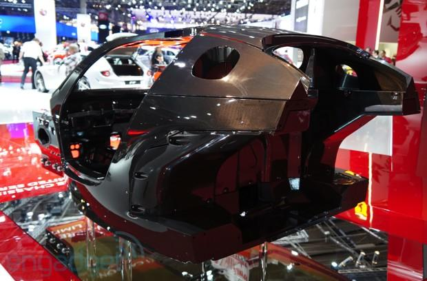 This is the carbon fiber core of Ferrari's first hybrid