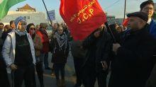 Protesters rally in Jordan against Pence visit