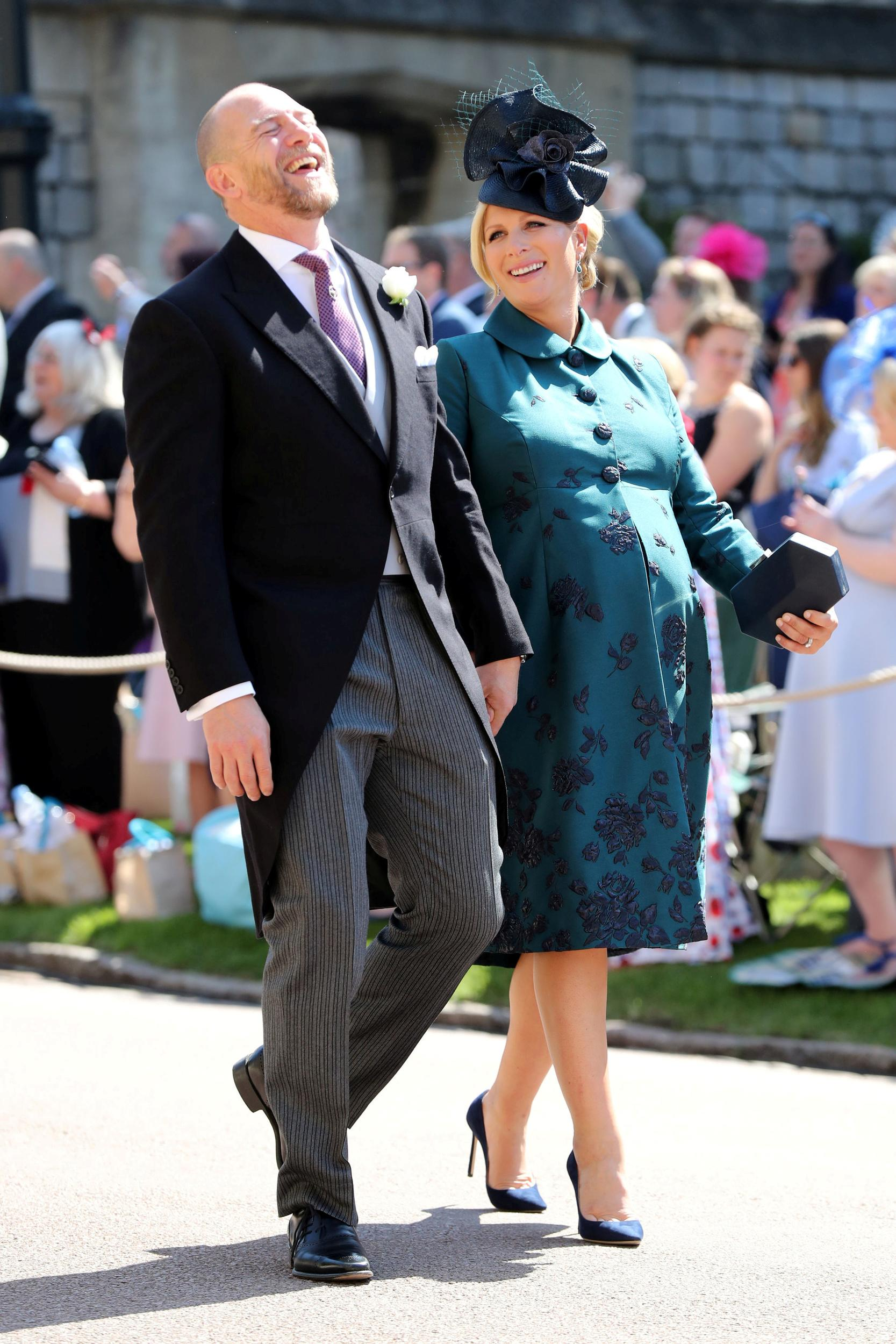 Mike Tindall and Zara Tindall arrives at St George's Chapel at Windsor Castle for the wedding of Meghan Markle and Prince Harry, in Windsor, Britain May 19, 2018.  Gareth Fuller/Pool via REUTERS