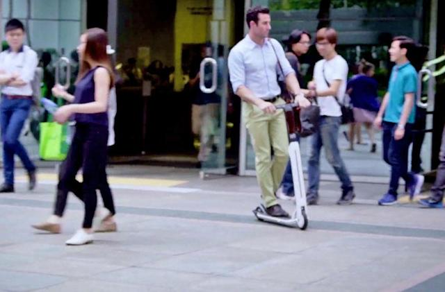 Segway's electric scooter offers a ride from your car to your desk