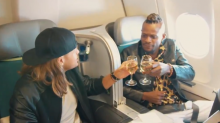 Aer Lingus films X Factor contestants sitting in business class before moving them to economy