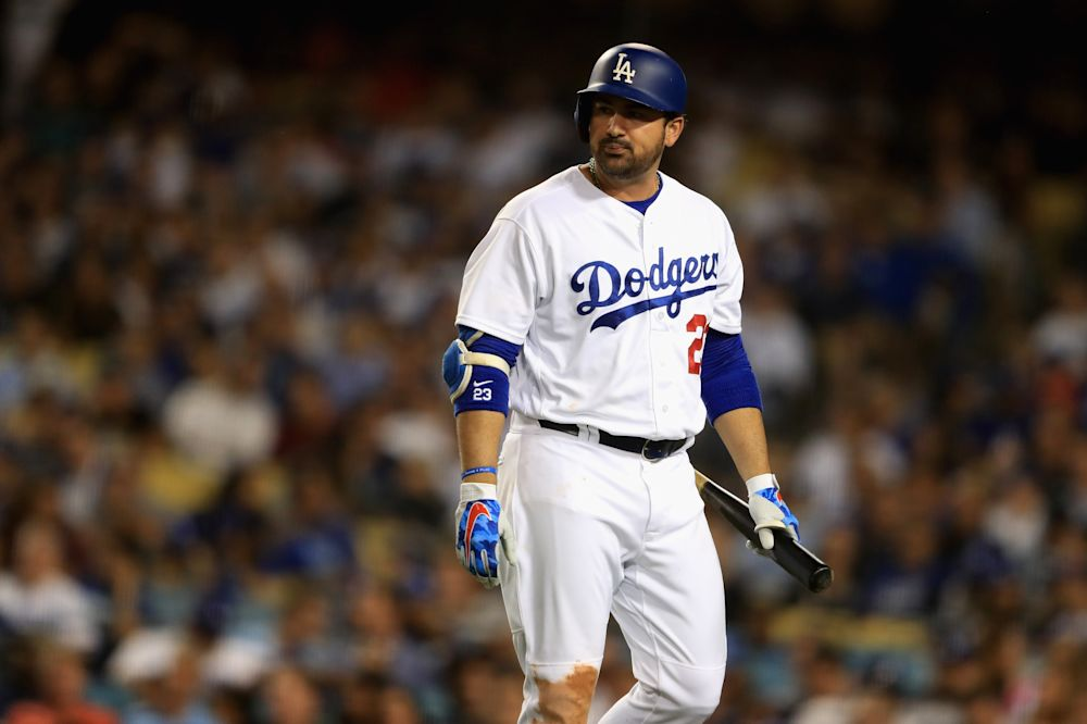 Adrian Gonzalez will not be part of the Dodgers postseason roster. (Getty Images)