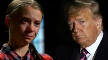 Greta Thunberg fights back tears while recalling emotional battle against Trump