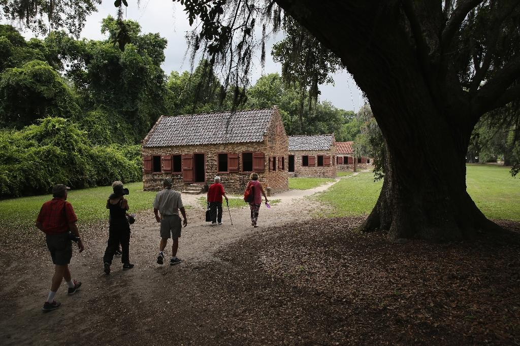 Historical sites near Charleston, South Carolina, such as Boone Hall Plantation, seen in 2015, could face damage as Hurricane Florence approaches the US East Coast (AFP Photo/JOHN MOORE)