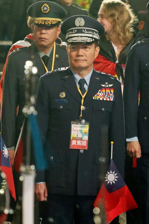 Shen Yi-ming, Taiwan's top military chief, was killed in a helicopter crash (AFP Photo/STR)