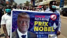 Protests back Congo's threatened Nobel winner