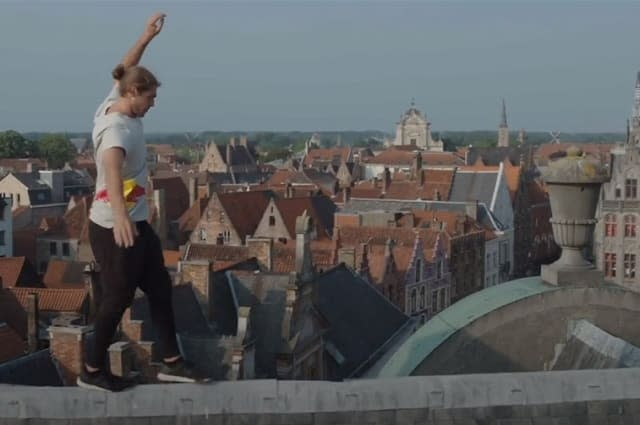Freerunner Dominic Di Tommaso turns Belgian city into a parkour playground