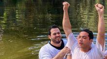 """Wesley Safadão comemora batismo no rio Jordão: """"Momento simbólico"""""""