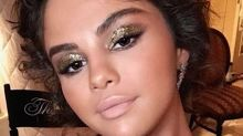 Selena Gomez's gilded gold Met Gala eye look made her look tanner