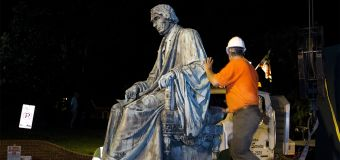 Pro-slavery monument removed from state