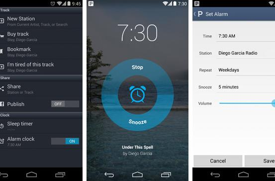 Pandora's Android app gets an alarm clock function, right on time