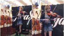 【新片速報】日本新宿超正街頭表演 小提琴演奏Twitter熱傳