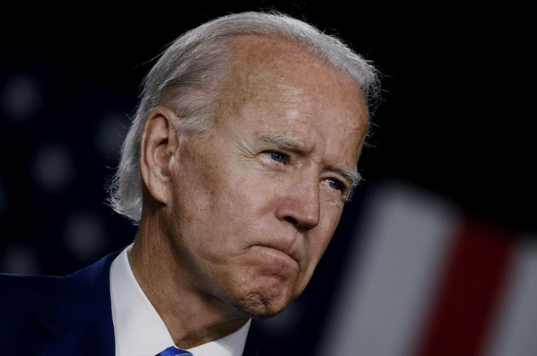 Democratic White House hopeful Joe Biden says he would launch an all-hands-on-deck effort to fight climate change and revamp the US power sector if he is elected president in November 2020 (AFP Photo/Olivier DOULIERY)