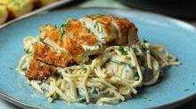 Crispy Chicken Mushroom Pasta