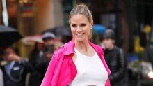 BH-los in New York: Heidi Klum macht Zebrastreifen zum Laufsteg