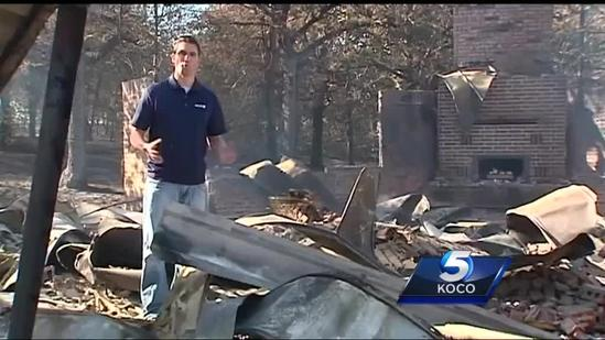 Man reacts to losing everything in Logan County wildfire