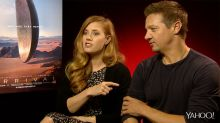 Arrival stars Amy Adams, Jeremy Renner talk alien conspiracy theories