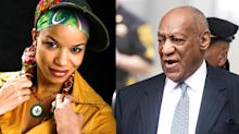 Bill Cosby topless protester identified as Nicolle Rochelle, who appeared on 'The Cosby Show'