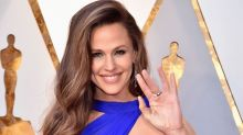 Bombshell in blue! Jennifer Garner's gown steals the show at the 2018 Oscars