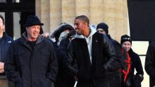 Sylvester Stallone and Michael B. Jordan Film at the Iconic 'Rocky' Steps