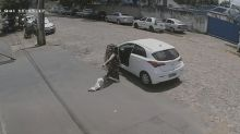 Viral video shows woman abandoning handicapped dog on side of road