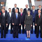 Trump Pushed His Way to the Front of NATO Leaders Because of Course He Did