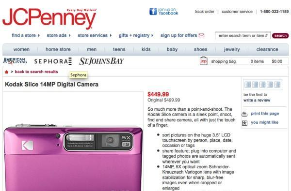 Kodak Slice touchscreen camera, Pulse WiFi frame, and PlaySport pocket camcorder now on sale... at JC Penney
