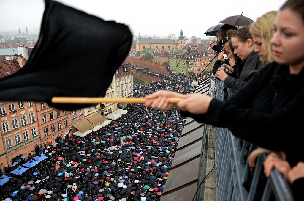 Last year nationwide demonstrations in Poland successfully prevented new legislation that would have meant a near-total ban on abortion (AFP Photo/JANEK SKARZYNSKI)