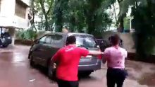 Rhea Chakraborty Run Away From media but Media runs Behind Rhea Chakraborty
