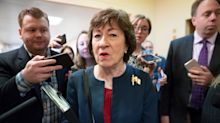 GOP Sen. Susan Collins Sides With Mitch McConnell On Impeachment Trial