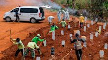 Eight people in Indonesia refused to wear face masks. They were ordered to dig graves for COVID-19 victims as punishment.
