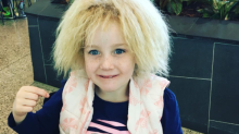 This adorable 7-year-old is rocking her 'uncombable' hair