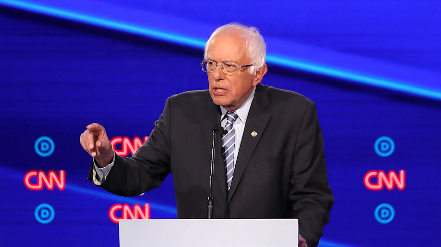 Sanders 'feeling great' two weeks after heart attack
