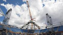 Roof Project Under Way at Arthur Ashe Stadium