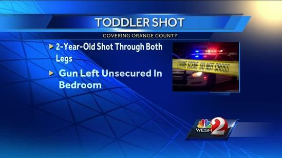 Toddler shoots self in legs