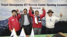 KT Corp. Opens World's First ICT Rescue Center on Nepal's Mt. Annapurna