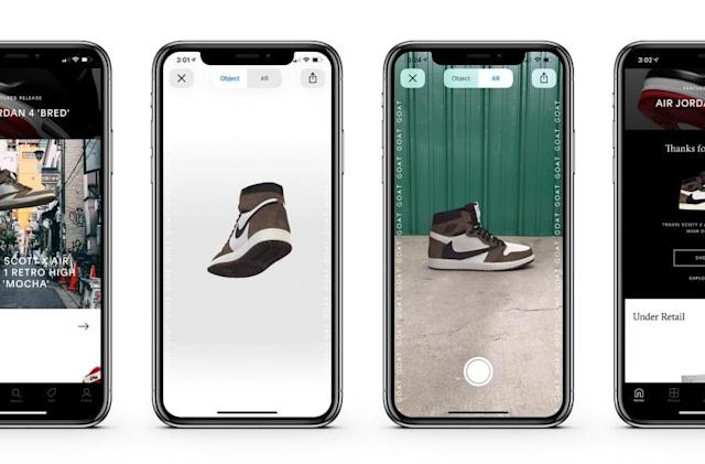GOAT lets you preview sneakers in AR before they launch