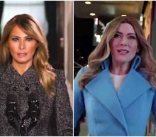 Melania Trump released a farewell video. So did Colbert's Late Show Melania Trump.