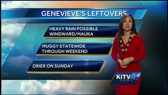 Genevieve's Leftovers, Weekend Forecast