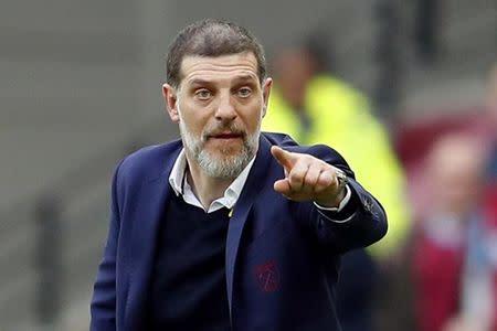 West Ham United manager Slaven Bilic gestures
