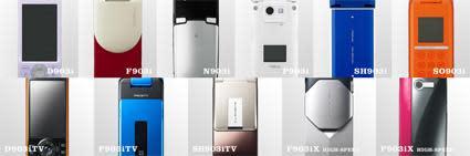 NTT DoCoMo shows slew of new phones